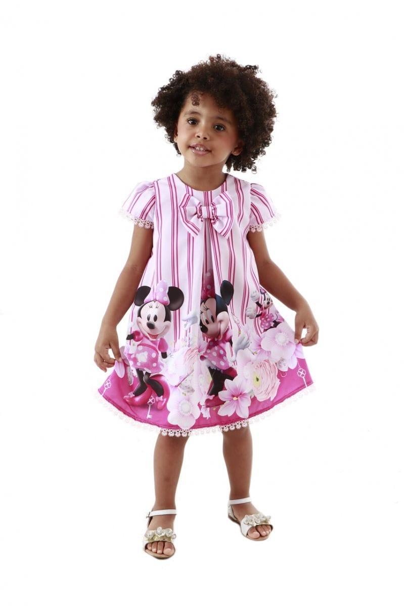 Vestido da Minnie Rosa para Aniversário