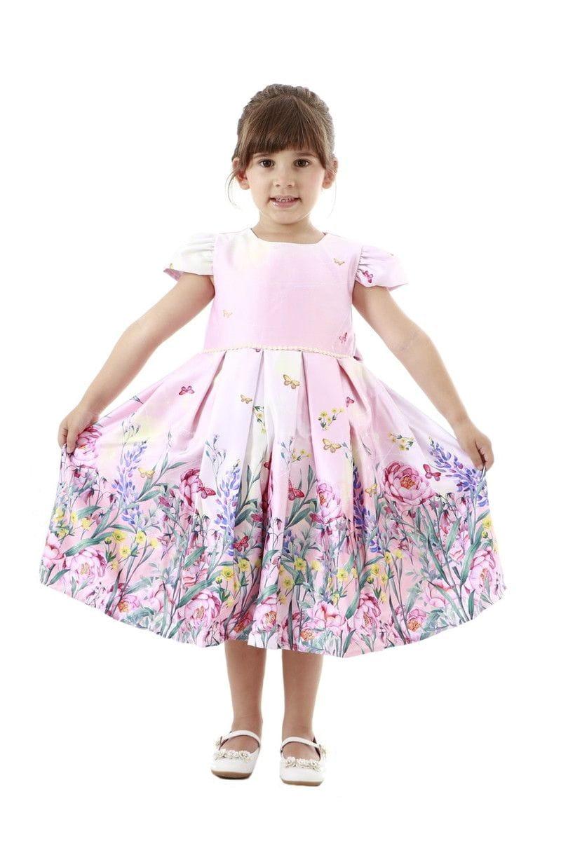 Vestido Infantil de Festa Jardim Encantado