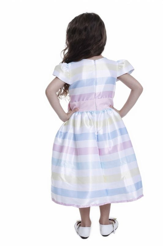 Vestido Infantil Listras Candy Color