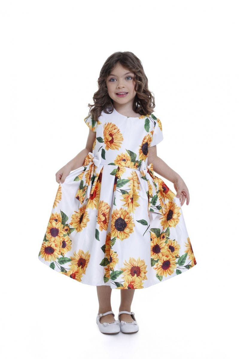 Vestido Girassol Infantil