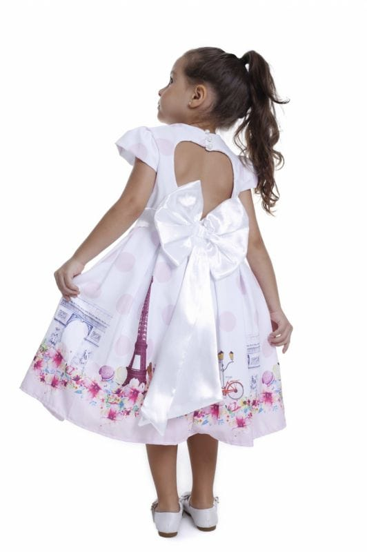 Vestido Para Festa Tema Paris Infantil
