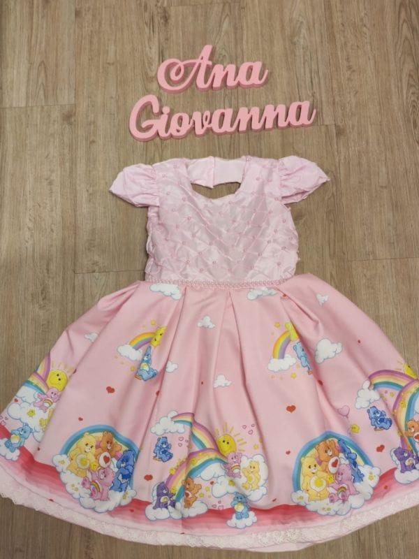 Vestido Infantil Ursinhos Carinhos Luxo