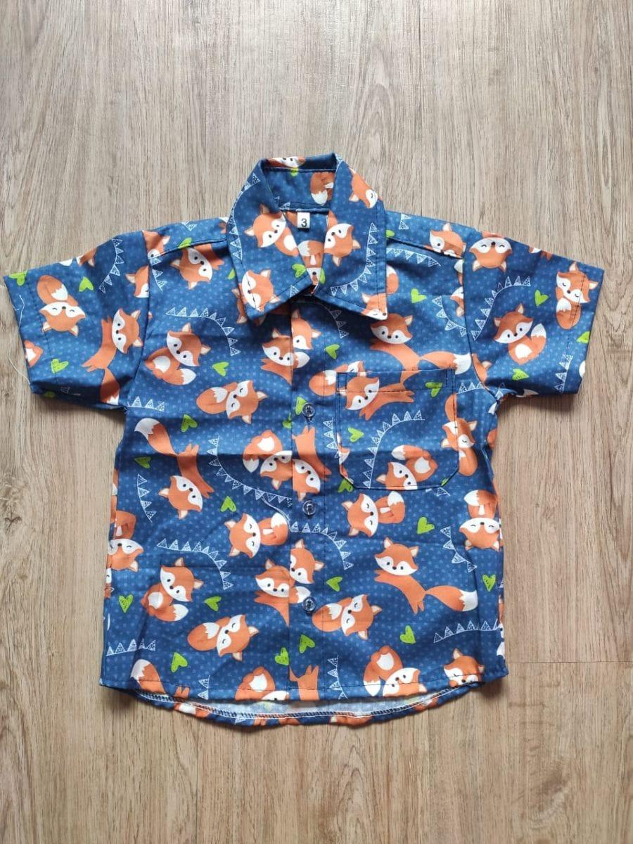 Camisa Infantil Masculina Raposinha