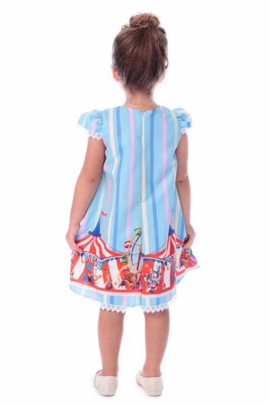 Vestido Infantil Circo Trapezio