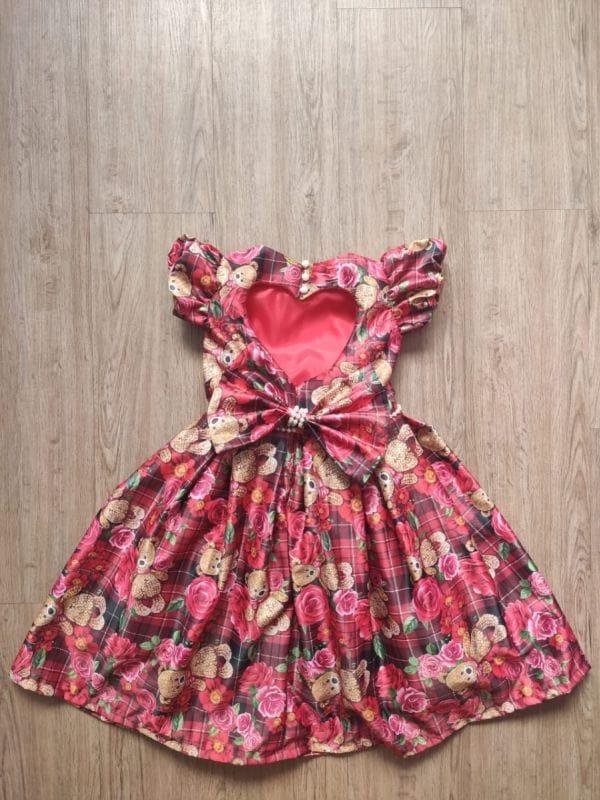 Vestido de Ursinho Infantil