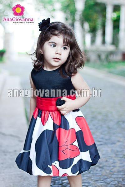 Vestido para Festa Infantil Minnie Vermelha Baby