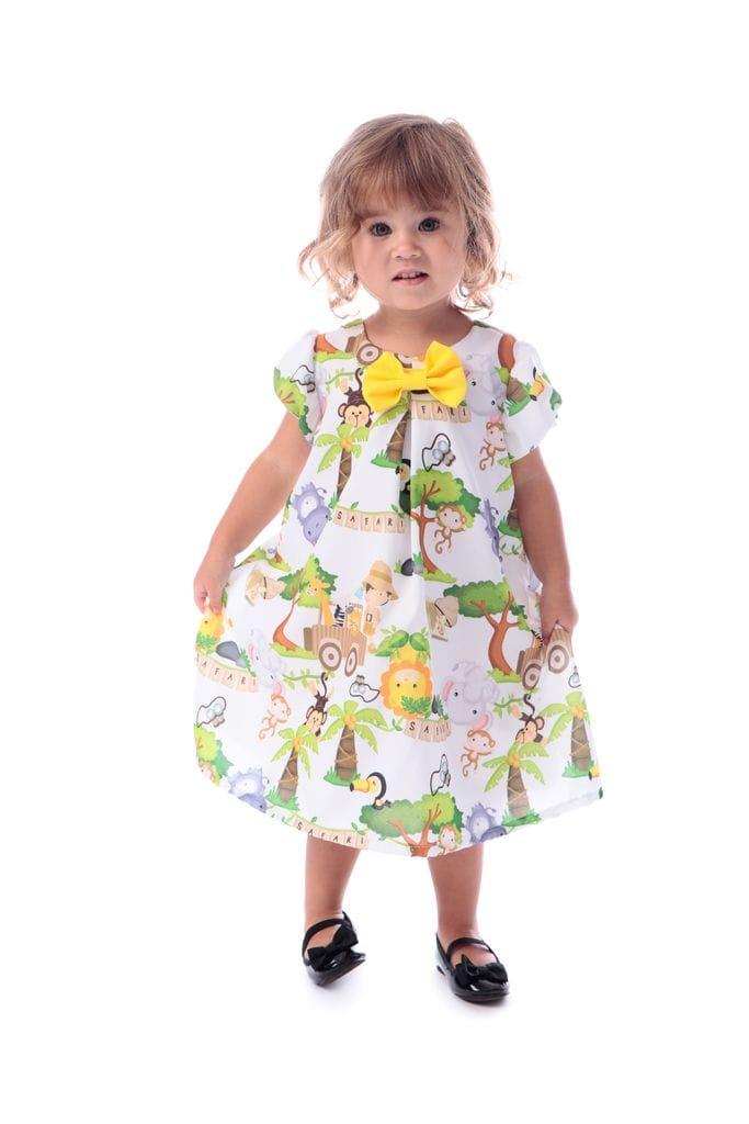 Vestido Infantil Tema Safari
