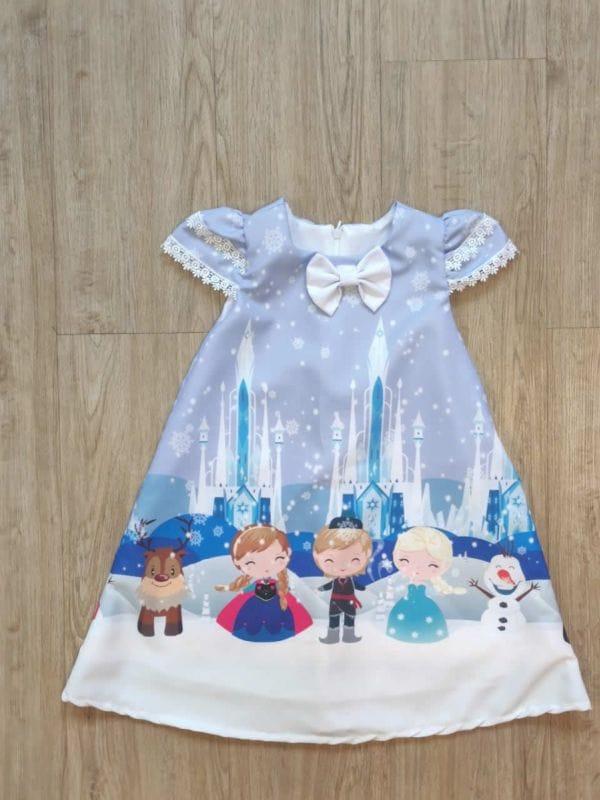 Vestido da Frozen Trapézio
