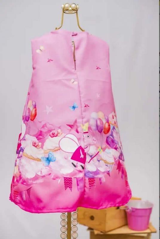 Vestido Infantil Peppa Trapézio