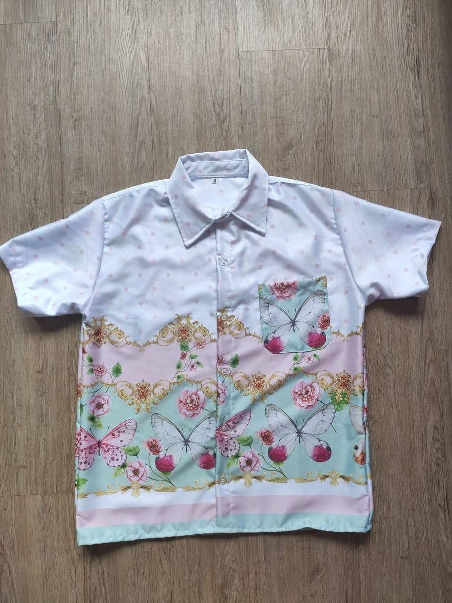 Camisa Masculina Estampa Borboletas