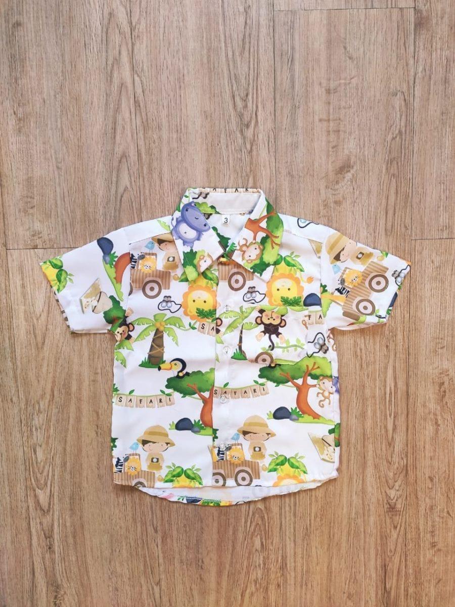 Camisa Infantil Menino Safari