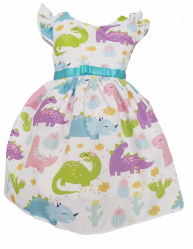 Vestido Infantil Dinossauro