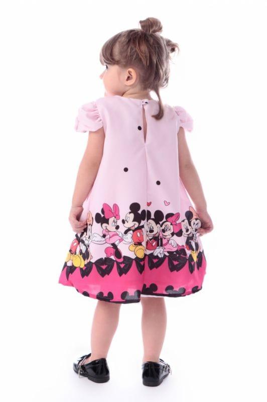 Vestido da Minnie e Mickey Trapézio