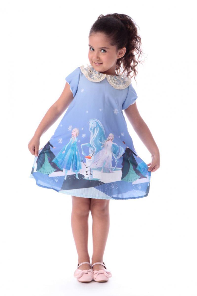 Vestido da Frozen 2 Trapézio