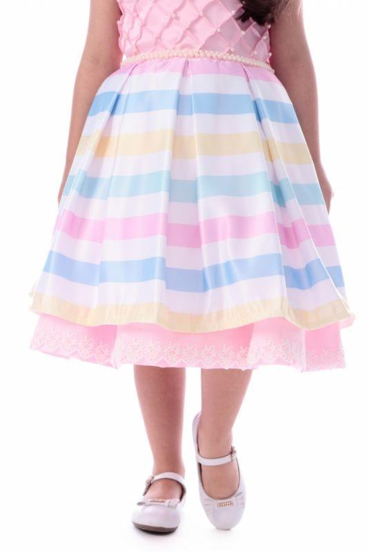 Vestido Arco Iris Infantil