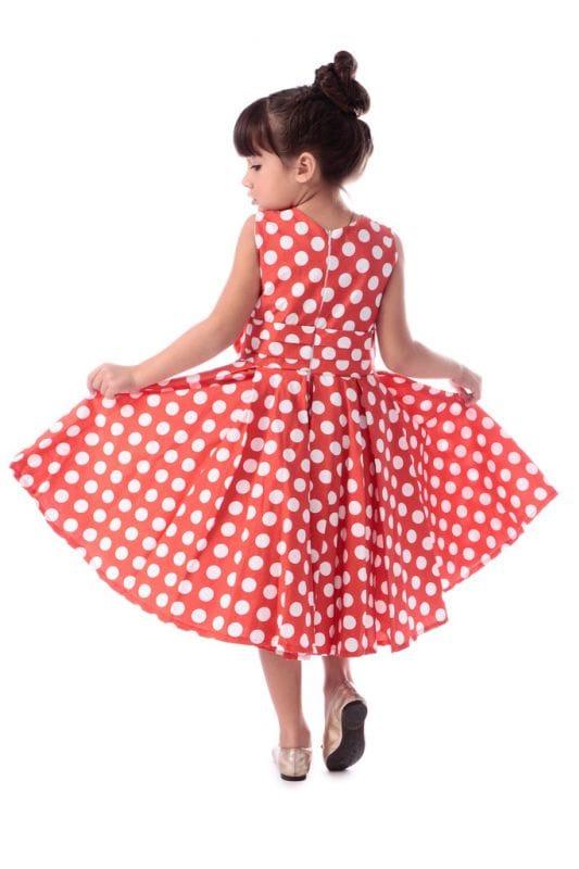 Vestido de Aniversario da Minnie Vermelha