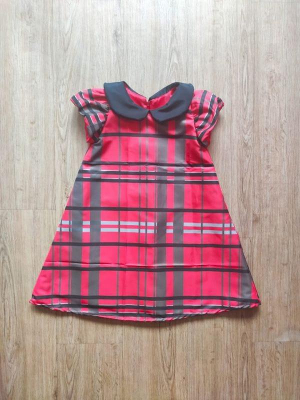Vestido Infantil Trapézio Xadrez