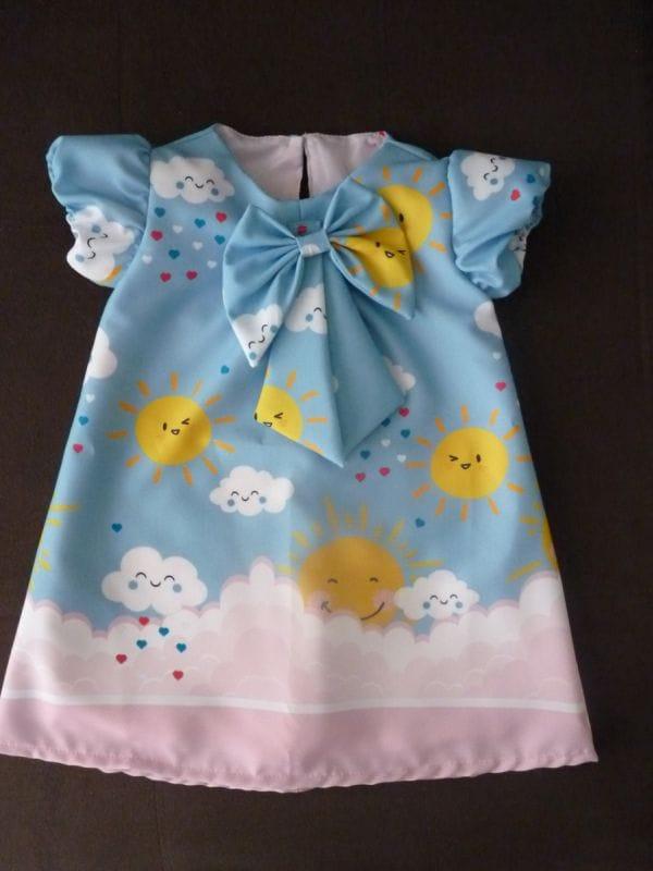 Vestido Infantil Trapézio Raio de Sol