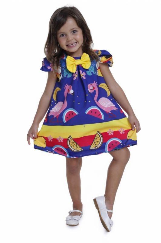 Vestido Para Festa Tropical Infantil