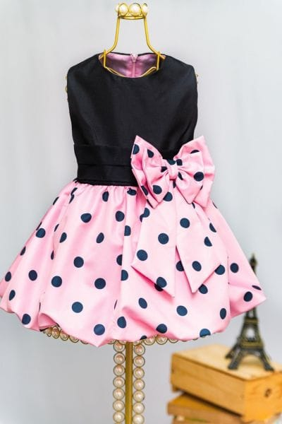 Vestido para Festa Infantil da Minnie Rosa Baby