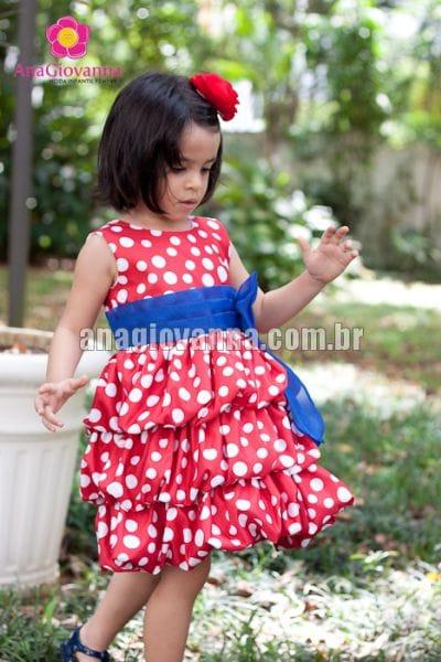 Vestido Galinha Pintadinha Balonê Vermelho