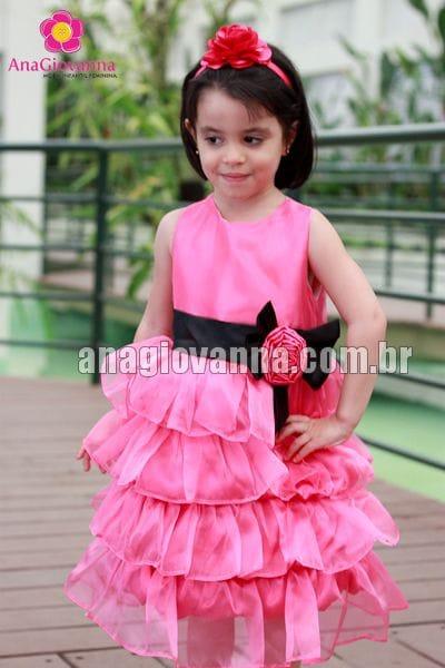 Vestido Infantil Princesa Pink