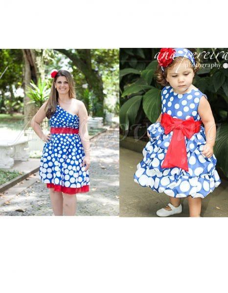 Vestidos Mãe e Filha Festa da Galinha Pintadinha