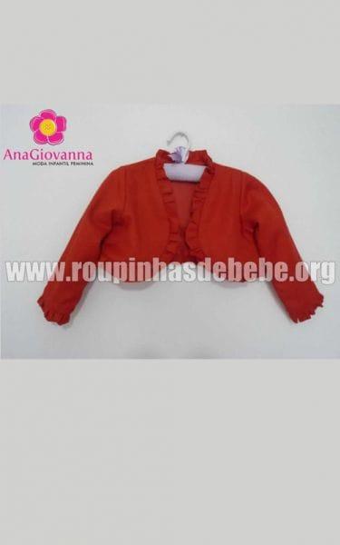 Bolero infantil vermelho