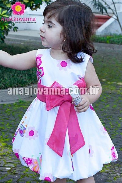Vestido para Festa Infantil Jardim das Borboletas