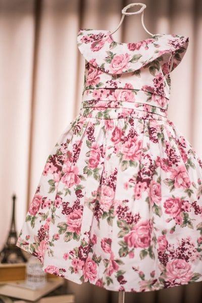 Vestido para Festa de Criança Floral