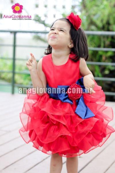 Vestido Galinha Pintadinha Vermelho