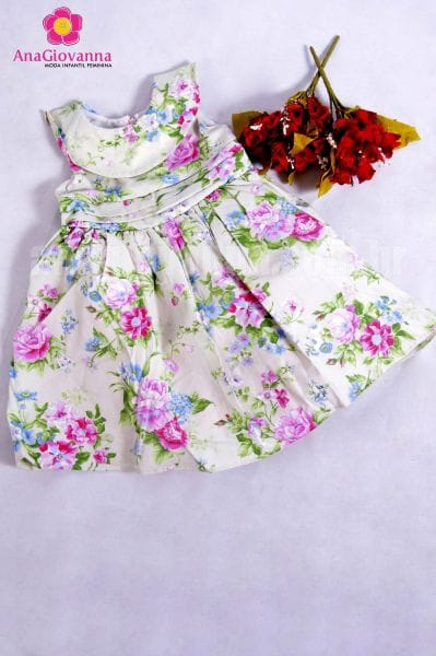 Vestido infantil estampado floral