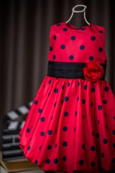 Vestido de Festa Infantil Minnie Vermelha