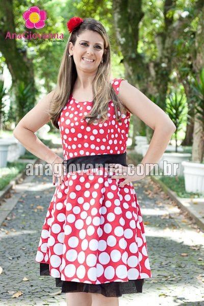 Vestido Minnie vermelha adulto degradê