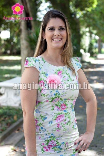 Vestido Adulto Floral Verde