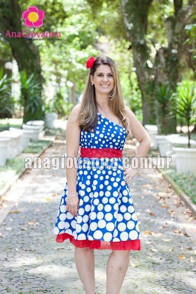 Vestido Galinha Pintadinha com alça única degradê