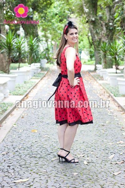 Vestido Adulto Festa Joaninha
