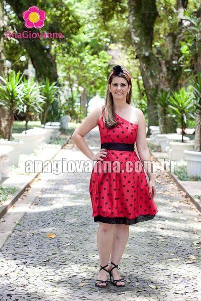 Vestido Adulto Joaninha Alça Única