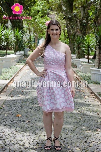 Vestido Adulto Minnie Rosa Alça Única