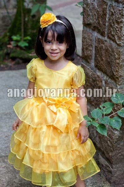 Vestido Princesa Bela