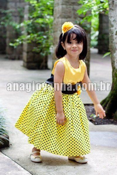 Vestido para Festa Infantil da Abelhinha