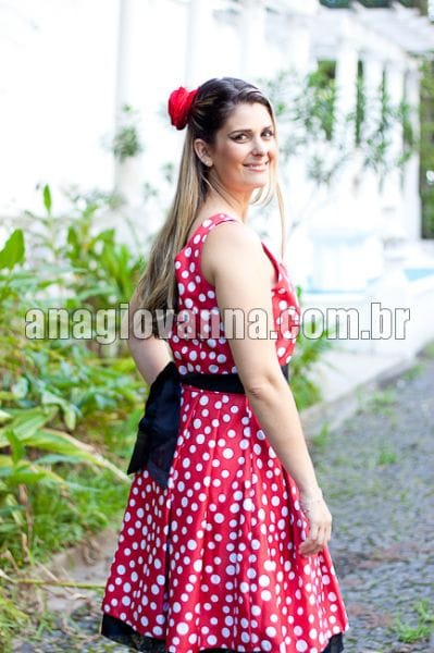 Vestido da Minnie Vermelha Adulto 02 Alças
