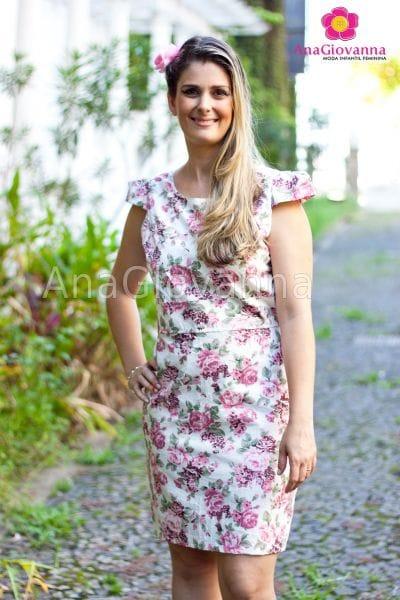 Vestido Adulto Floral Rosê