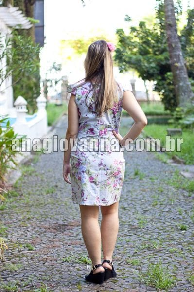 Vestido Adulto Floral Lilás