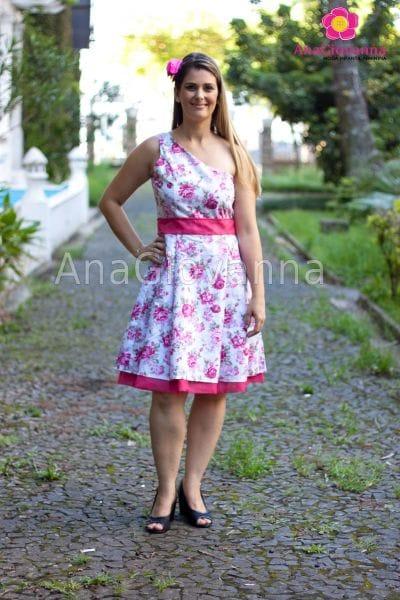 Vestido Adulto Floral Pink