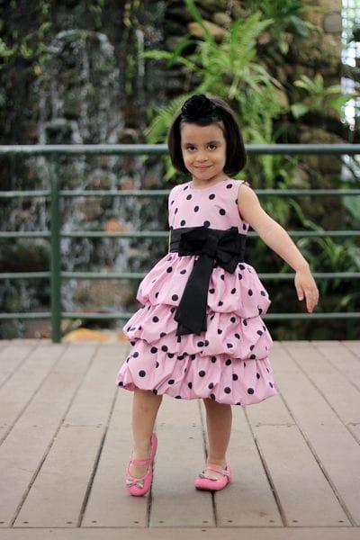 Vestido Festa Minnie Rosa