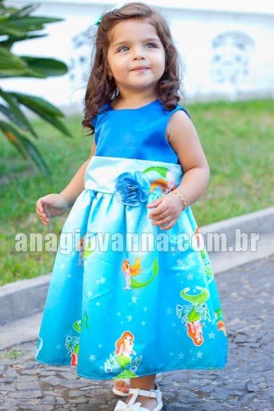 Vestido Infantil Pequena Sereia