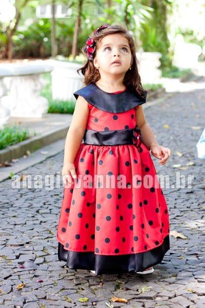 Vestido infantil de Joaninha