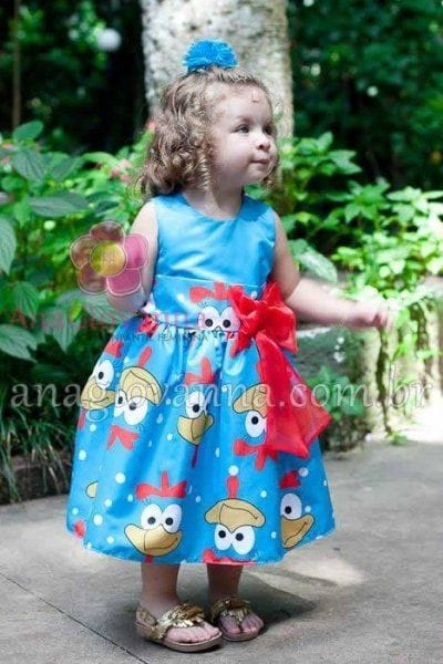 Vestido Galinha Pintadinha Infantil