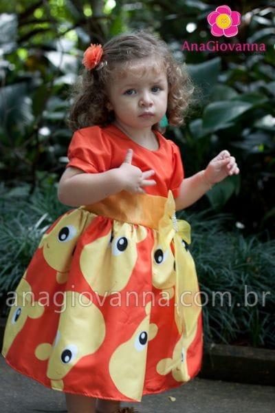 Vestido para Festa Infantil Backyardigans Tasha
